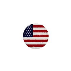 Flag United States United States Of America Stripes Red White 1  Mini Buttons by Simbadda
