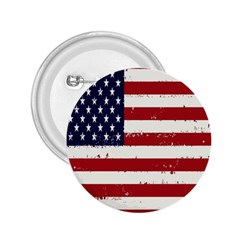 Flag United States United States Of America Stripes Red White 2 25  Buttons by Simbadda