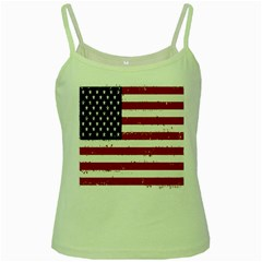 Flag United States United States Of America Stripes Red White Green Spaghetti Tank by Simbadda