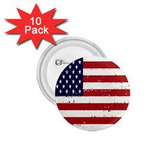 Flag United States United States Of America Stripes Red White 1 75  Buttons (10 Pack) by Simbadda