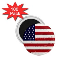 Flag United States United States Of America Stripes Red White 1 75  Magnets (100 Pack)  by Simbadda