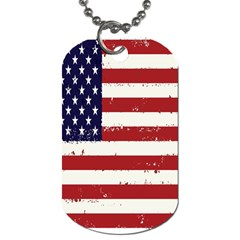 Flag United States United States Of America Stripes Red White Dog Tag (two Sides) by Simbadda