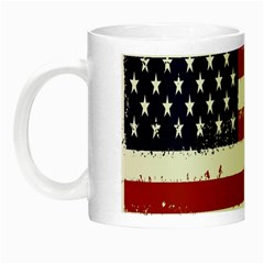 Flag United States United States Of America Stripes Red White Night Luminous Mugs by Simbadda