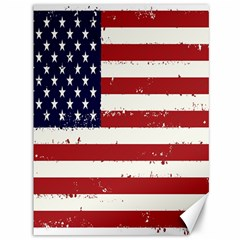 Flag United States United States Of America Stripes Red White Canvas 36  X 48   by Simbadda