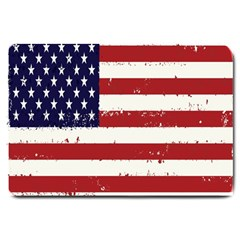 Flag United States United States Of America Stripes Red White Large Doormat  by Simbadda
