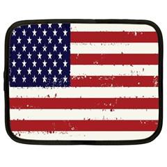 Flag United States United States Of America Stripes Red White Netbook Case (large) by Simbadda