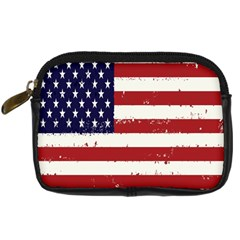 Flag United States United States Of America Stripes Red White Digital Camera Cases by Simbadda