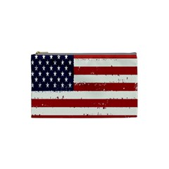Flag United States United States Of America Stripes Red White Cosmetic Bag (small)  by Simbadda