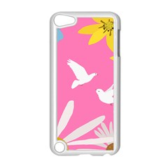 Spring Flower Floral Sunflower Bird Animals White Yellow Pink Blue Apple Ipod Touch 5 Case (white) by Alisyart