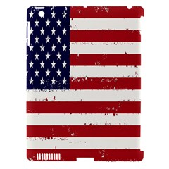 Flag United States United States Of America Stripes Red White Apple Ipad 3/4 Hardshell Case (compatible With Smart Cover) by Simbadda