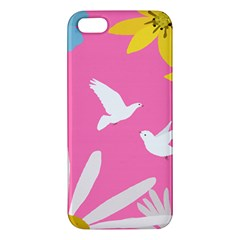 Spring Flower Floral Sunflower Bird Animals White Yellow Pink Blue Apple Iphone 5 Premium Hardshell Case by Alisyart