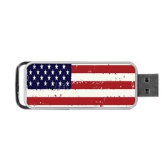 Flag United States United States Of America Stripes Red White Portable Usb Flash (one Side) by Simbadda