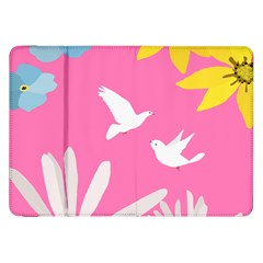 Spring Flower Floral Sunflower Bird Animals White Yellow Pink Blue Samsung Galaxy Tab 8 9  P7300 Flip Case by Alisyart