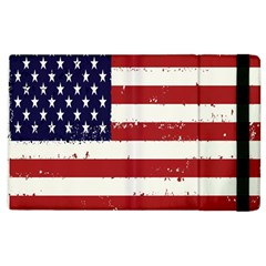 Flag United States United States Of America Stripes Red White Apple Ipad 3/4 Flip Case by Simbadda