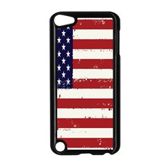 Flag United States United States Of America Stripes Red White Apple Ipod Touch 5 Case (black) by Simbadda