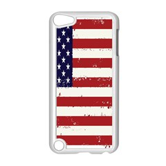 Flag United States United States Of America Stripes Red White Apple Ipod Touch 5 Case (white) by Simbadda