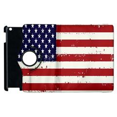 Flag United States United States Of America Stripes Red White Apple Ipad 2 Flip 360 Case by Simbadda