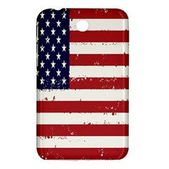 Flag United States United States Of America Stripes Red White Samsung Galaxy Tab 3 (7 ) P3200 Hardshell Case  by Simbadda