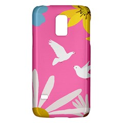 Spring Flower Floral Sunflower Bird Animals White Yellow Pink Blue Galaxy S5 Mini by Alisyart