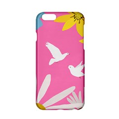 Spring Flower Floral Sunflower Bird Animals White Yellow Pink Blue Apple Iphone 6/6s Hardshell Case by Alisyart