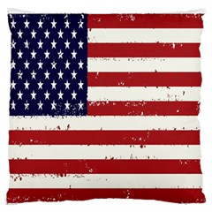 Flag United States United States Of America Stripes Red White Standard Flano Cushion Case (one Side) by Simbadda