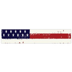 Flag United States United States Of America Stripes Red White Flano Scarf (small) by Simbadda