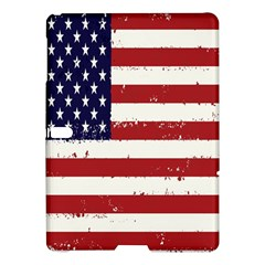Flag United States United States Of America Stripes Red White Samsung Galaxy Tab S (10 5 ) Hardshell Case  by Simbadda