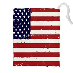 Flag United States United States Of America Stripes Red White Drawstring Pouches (xxl) by Simbadda