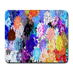 Flowers Colorful Drawing Oil Large Mousepads by Simbadda