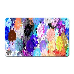 Flowers Colorful Drawing Oil Magnet (rectangular) by Simbadda