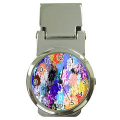 Flowers Colorful Drawing Oil Money Clip Watches by Simbadda