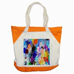 Flowers Colorful Drawing Oil Accent Tote Bag by Simbadda