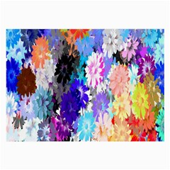 Flowers Colorful Drawing Oil Large Glasses Cloth (2 Side) by Simbadda