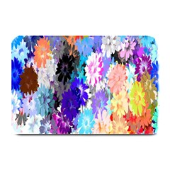 Flowers Colorful Drawing Oil Plate Mats by Simbadda