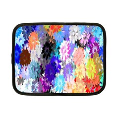 Flowers Colorful Drawing Oil Netbook Case (small)  by Simbadda