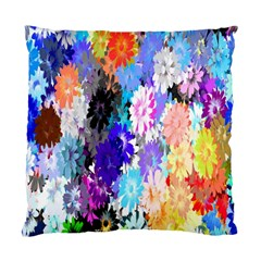 Flowers Colorful Drawing Oil Standard Cushion Case (one Side) by Simbadda
