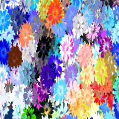Flowers Colorful Drawing Oil Magic Photo Cubes by Simbadda