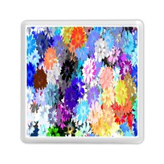 Flowers Colorful Drawing Oil Memory Card Reader (square)  by Simbadda
