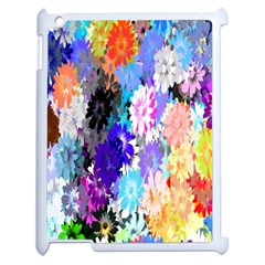Flowers Colorful Drawing Oil Apple Ipad 2 Case (white) by Simbadda