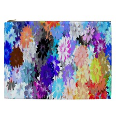 Flowers Colorful Drawing Oil Cosmetic Bag (xxl)  by Simbadda