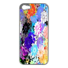 Flowers Colorful Drawing Oil Apple Iphone 5 Case (silver) by Simbadda