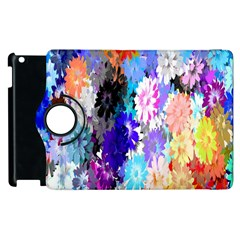 Flowers Colorful Drawing Oil Apple Ipad 3/4 Flip 360 Case by Simbadda