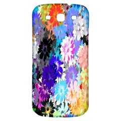 Flowers Colorful Drawing Oil Samsung Galaxy S3 S Iii Classic Hardshell Back Case by Simbadda