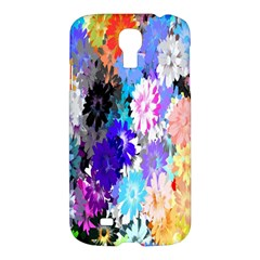 Flowers Colorful Drawing Oil Samsung Galaxy S4 I9500/i9505 Hardshell Case by Simbadda