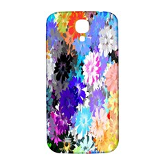 Flowers Colorful Drawing Oil Samsung Galaxy S4 I9500/I9505  Hardshell Back Case