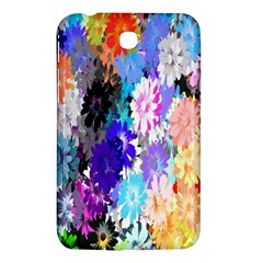 Flowers Colorful Drawing Oil Samsung Galaxy Tab 3 (7 ) P3200 Hardshell Case  by Simbadda