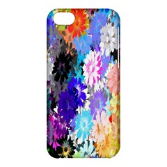 Flowers Colorful Drawing Oil Apple Iphone 5c Hardshell Case by Simbadda