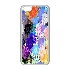 Flowers Colorful Drawing Oil Apple Iphone 5c Seamless Case (white) by Simbadda