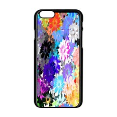 Flowers Colorful Drawing Oil Apple Iphone 6/6s Black Enamel Case by Simbadda