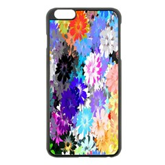 Flowers Colorful Drawing Oil Apple Iphone 6 Plus/6s Plus Black Enamel Case by Simbadda